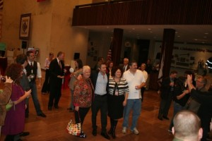 More than 100 people attended Friday's receptions.