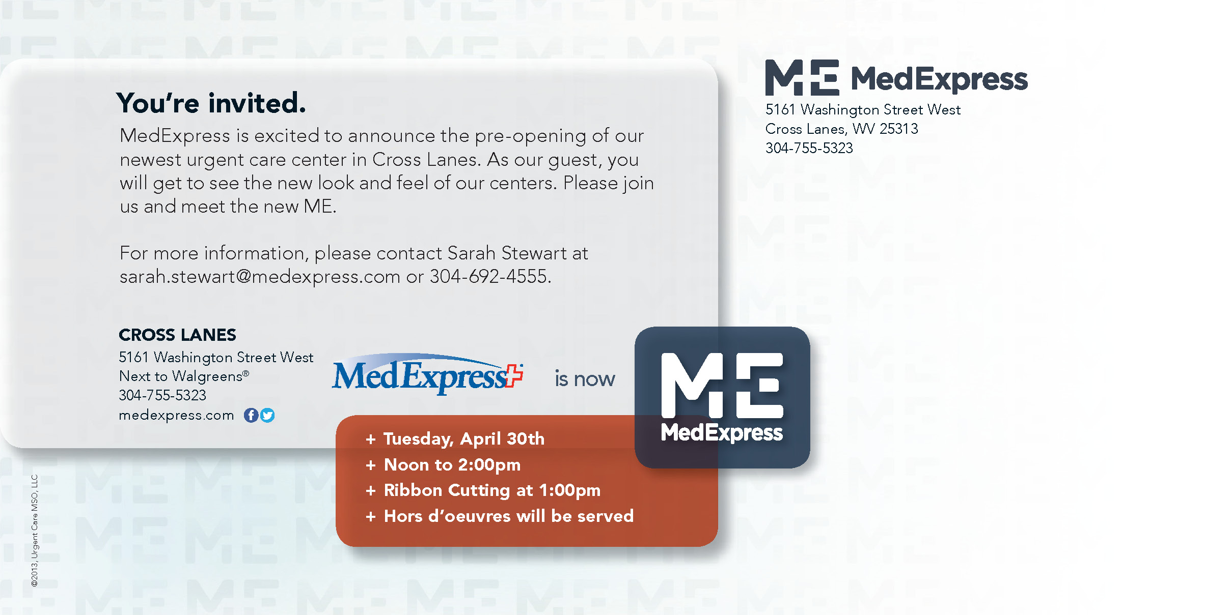 Medexpress to host grand opening in cross lanes this tuesday cross lanes invite page2 stopboris Gallery
