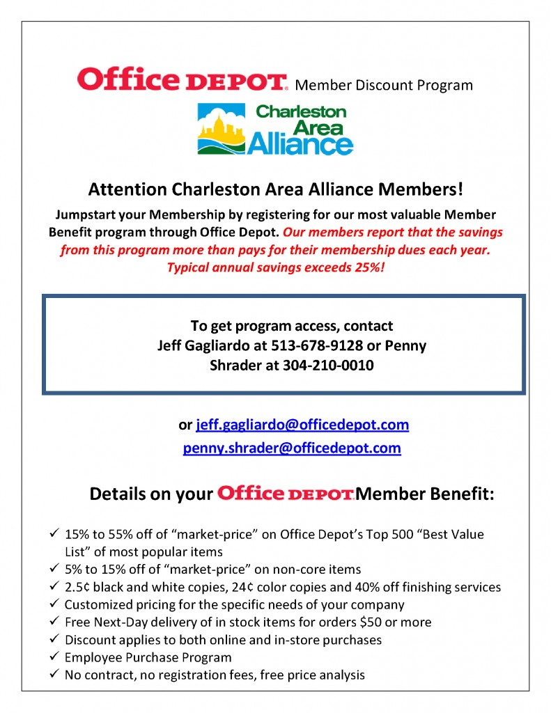 Charleston Office Depot Discount Program Final